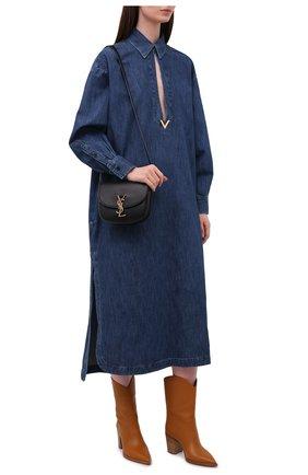 Женские кожаные ботильоны denver GIANVITO ROSSI коричневого цвета, арт. G73546.70CU0.VGISINN | Фото 2