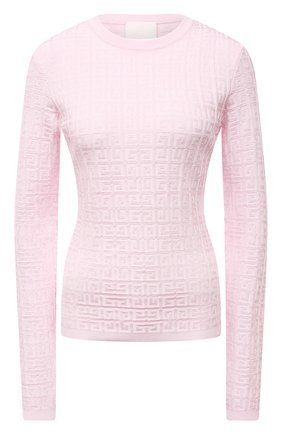 Женский пуловер из вискозы GIVENCHY светло-розового цвета, арт. BW90D94ZA4   Фото 1