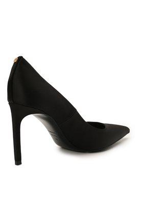 Женские текстильные туфли t-screw TOM FORD черного цвета, арт. W2326T-STA   Фото 4 (Материал внешний: Текстиль; Каблук высота: Высокий, Средний; Материал внутренний: Натуральная кожа; Каблук тип: Шпилька; Подошва: Плоская)