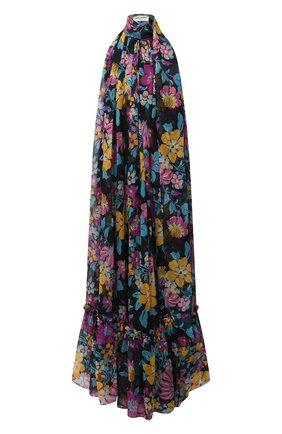 Женское шелковое платье SAINT LAURENT разноцветного цвета, арт. 661876/Y6C39   Фото 1