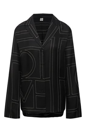 Женская шелковая рубашка TOTÊME черного цвета, арт. 213-755-707 | Фото 1