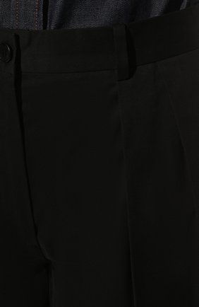 Женские хлопковые шорты-бермуды THE ROW черного цвета, арт. 5632W1699   Фото 5 (Женское Кросс-КТ: Шорты-одежда; Кросс-КТ: Широкие; Материал внешний: Хлопок; Длина Ж (юбки, платья, шорты): Миди; Стили: Минимализм)