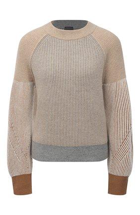 Женский пуловер из шерсти и кашемира LORENA ANTONIAZZI бежевого цвета, арт. A21116GM016/1906 | Фото 1