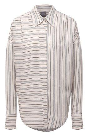 Женская рубашка из вискозы и шелка LORENA ANTONIAZZI серого цвета, арт. A2158CA01A/3468 | Фото 1