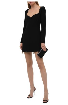Женское шелковое платье VERSACE черного цвета, арт. 1001120/1A01050 | Фото 2