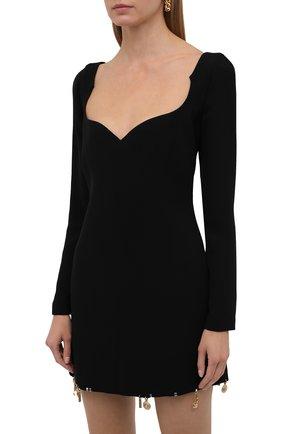 Женское шелковое платье VERSACE черного цвета, арт. 1001120/1A01050 | Фото 3