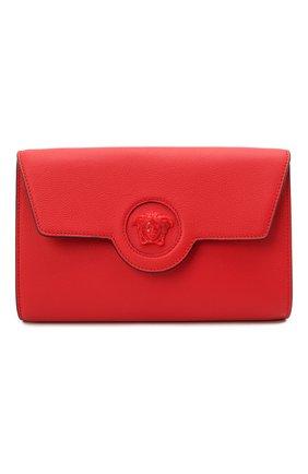 Женские кожаный кошелек на цепочке la medusa VERSACE красного цвета, арт. 1000814/DVIT2T | Фото 1