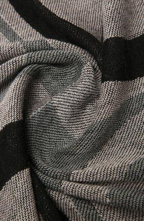 Женский шерстяной платок GIORGIO ARMANI черного цвета, арт. 795315/1A143   Фото 2