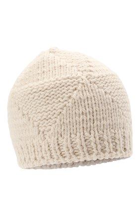 Женская шерстяная шапка BOTTEGA VENETA белого цвета, арт. 665564/V10K0   Фото 1
