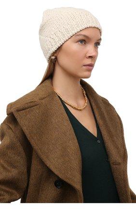 Женская шерстяная шапка BOTTEGA VENETA белого цвета, арт. 665564/V10K0   Фото 2
