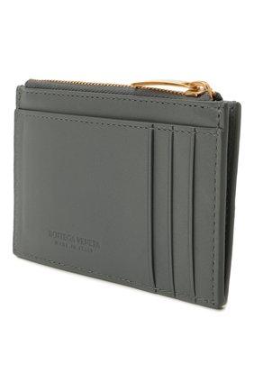 Женский кожаный футляр для кредитных карт BOTTEGA VENETA серого цвета, арт. 651393/VCQC4 | Фото 2