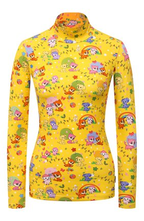 Женская хлопковая водолазка BALENCIAGA желтого цвета, арт. 628702/TKV42 | Фото 1 (Длина (для топов): Стандартные; Материал внешний: Хлопок; Рукава: Длинные; Стили: Спорт-шик; Женское Кросс-КТ: Водолазка-одежда)