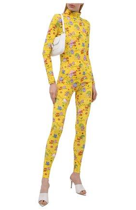 Женская хлопковая водолазка BALENCIAGA желтого цвета, арт. 628702/TKV42 | Фото 2 (Длина (для топов): Стандартные; Материал внешний: Хлопок; Рукава: Длинные; Стили: Спорт-шик; Женское Кросс-КТ: Водолазка-одежда)