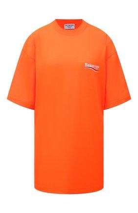 Женская футболка BALENCIAGA оранжевого цвета, арт. 641655/TKVE8 | Фото 1
