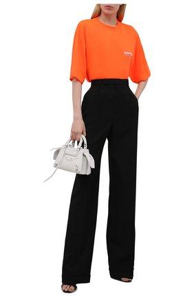 Женская футболка BALENCIAGA оранжевого цвета, арт. 641655/TKVE8 | Фото 2