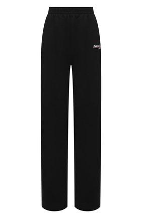 Женские хлопковые брюки BALENCIAGA черного цвета, арт. 641602/TKVI9 | Фото 1