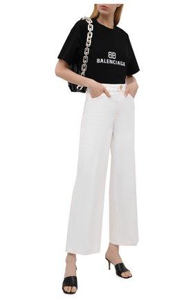 Женская хлопковая футболка BALENCIAGA черного цвета, арт. 612965/TKVI7 | Фото 2