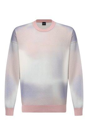 Мужской хлопковый джемпер BOSS розового цвета, арт. 50452409 | Фото 1