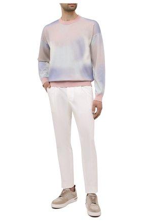 Мужской хлопковый джемпер BOSS розового цвета, арт. 50452409 | Фото 2