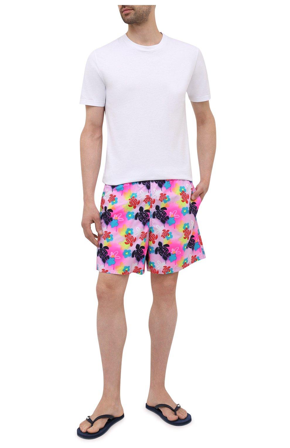 Мужские плавки-шорты VILEBREQUIN розового цвета, арт. MOOU1B88/175   Фото 2 (Материал внешний: Синтетический материал)