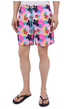 Мужские плавки-шорты VILEBREQUIN розового цвета, арт. MOOU1B88/175   Фото 3 (Материал внешний: Синтетический материал)