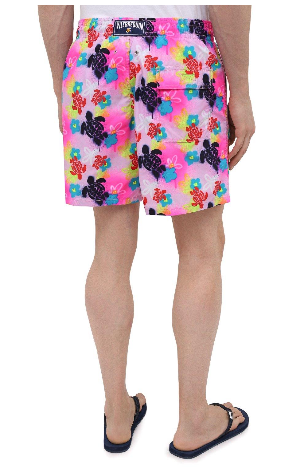 Мужские плавки-шорты VILEBREQUIN розового цвета, арт. MOOU1B88/175   Фото 4 (Материал внешний: Синтетический материал)