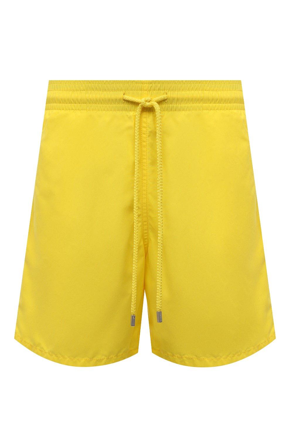 Мужские плавки-шорты VILEBREQUIN желтого цвета, арт. MOOC1A00/105 | Фото 1 (Принт: Без принта; Материал внешний: Синтетический материал; Мужское Кросс-КТ: плавки-шорты)
