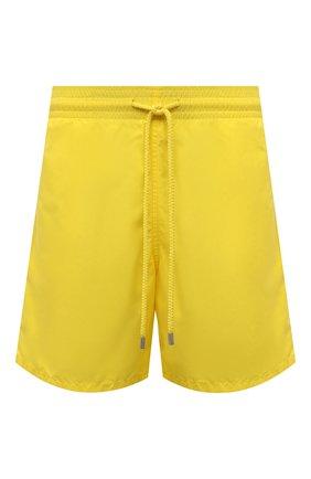 Мужские плавки-шорты VILEBREQUIN желтого цвета, арт. MOOC1A00/105 | Фото 1 (Материал внешний: Синтетический материал; Мужское Кросс-КТ: плавки-шорты; Принт: Без принта)
