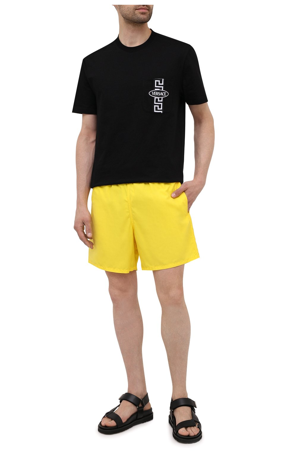 Мужские плавки-шорты VILEBREQUIN желтого цвета, арт. MOOC1A00/105 | Фото 2 (Принт: Без принта; Материал внешний: Синтетический материал; Мужское Кросс-КТ: плавки-шорты)