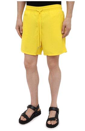 Мужские плавки-шорты VILEBREQUIN желтого цвета, арт. MOOC1A00/105 | Фото 3 (Принт: Без принта; Материал внешний: Синтетический материал; Мужское Кросс-КТ: плавки-шорты)