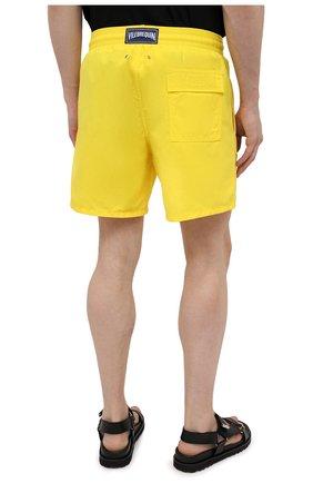 Мужские плавки-шорты VILEBREQUIN желтого цвета, арт. MOOC1A00/105 | Фото 4 (Принт: Без принта; Материал внешний: Синтетический материал; Мужское Кросс-КТ: плавки-шорты)