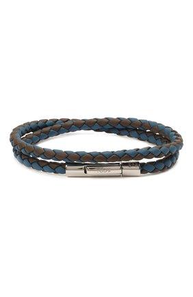 Мужской кожаный браслет TOD'S синего цвета, арт. XEMB1900200FLR   Фото 1