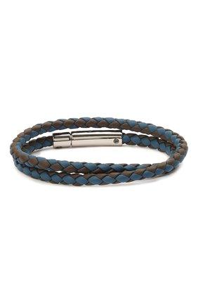Мужской кожаный браслет TOD'S синего цвета, арт. XEMB1900200FLR   Фото 2