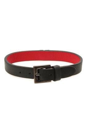 Мужской кожаный браслет VALENTINO черного цвета, арт. WY2J0L33/TCZ | Фото 2