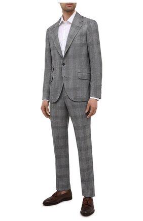 Мужские кожаные лоферы BRUNELLO CUCINELLI коричневого цвета, арт. MZUCLAE820 | Фото 2 (Материал внутренний: Натуральная кожа; Стили: Классический)