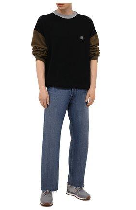 Мужские комбинированные кроссовки BRUNELLO CUCINELLI серого цвета, арт. MZUSBEA258 | Фото 2