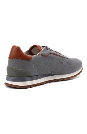 Мужские комбинированные кроссовки BRUNELLO CUCINELLI серого цвета, арт. MZUSBEA258 | Фото 4