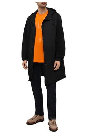 Мужские кожаные ботинки BRUNELLO CUCINELLI светло-бежевого цвета, арт. MZUSMFS890 | Фото 2 (Материал внутренний: Натуральная кожа; Подошва: Плоская; Мужское Кросс-КТ: Ботинки-обувь, Хайкеры-обувь)