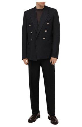 Мужские кожаные дерби BRUNELLO CUCINELLI темно-коричневого цвета, арт. MZUVRNK909 | Фото 2