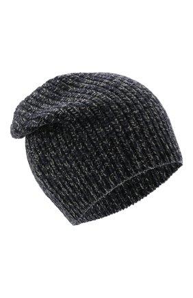 Мужская шапка из шерсти и кашемира BRUNELLO CUCINELLI темно-синего цвета, арт. M3657080 | Фото 1