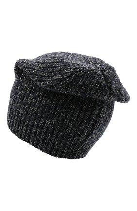 Мужская шапка из шерсти и кашемира BRUNELLO CUCINELLI темно-синего цвета, арт. M3657080 | Фото 2