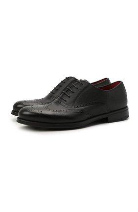 Мужские кожаные оксфорды BARRETT черного цвета, арт. 202U034.10/RIX0N | Фото 1