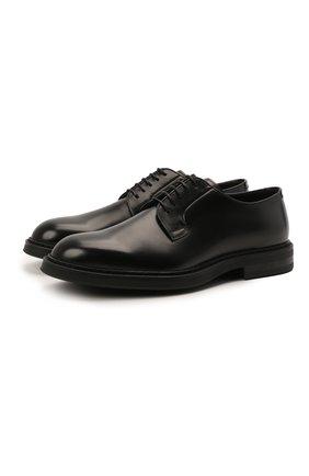 Мужские кожаные дерби H`D`S`N BARACCO черного цвета, арт. 80200.10* | Фото 1