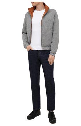 Мужские кожаные кеды H`D`S`N BARACCO черного цвета, арт. C0NN0R.CVN.0* | Фото 2
