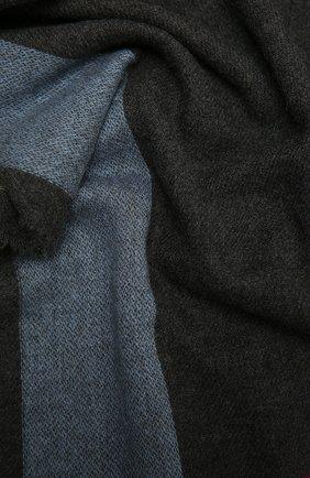 Мужской кашемировый шарф JOHNSTONS OF ELGIN темно-серого цвета, арт. WA001174 | Фото 2 (Материал: Кашемир, Шерсть; Кросс-КТ: кашемир)