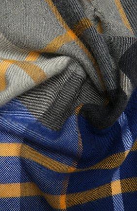 Мужской шерстяной шарф JOHNSTONS OF ELGIN синего цвета, арт. WD000446 | Фото 2 (Материал: Шерсть; Кросс-КТ: шерсть)