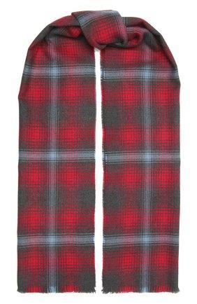 Мужской шерстяной шарф JOHNSTONS OF ELGIN красного цвета, арт. WD000446 | Фото 1 (Материал: Шерсть; Кросс-КТ: шерсть)