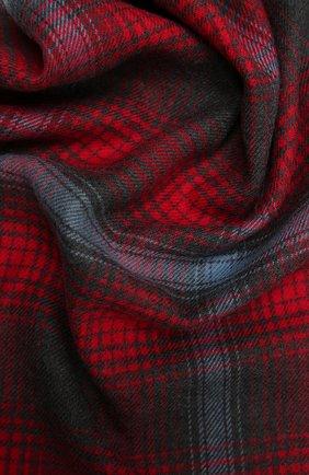 Мужской шерстяной шарф JOHNSTONS OF ELGIN красного цвета, арт. WD000446 | Фото 2 (Материал: Шерсть; Кросс-КТ: шерсть)
