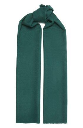 Мужской шерстяной шарф JOHNSTONS OF ELGIN зеленого цвета, арт. WD000446 | Фото 1 (Материал: Шерсть; Кросс-КТ: шерсть)