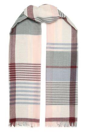 Мужской шерстяной шарф JOHNSTONS OF ELGIN разноцветного цвета, арт. WD001093 | Фото 1 (Материал: Шерсть)